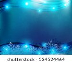 christmas background with blue... | Shutterstock .eps vector #534524464