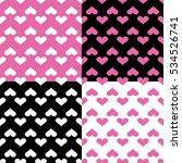 seamless pattern with hearts... | Shutterstock .eps vector #534526741