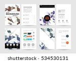 geometric background template...   Shutterstock .eps vector #534530131