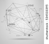 big data visualization .... | Shutterstock .eps vector #534533395
