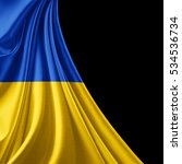 ukraine  flag of silk with... | Shutterstock . vector #534536734