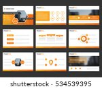 orange abstract presentation... | Shutterstock .eps vector #534539395