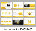 yellow abstract presentation... | Shutterstock .eps vector #534539425