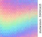 holographic geometric... | Shutterstock . vector #534541615