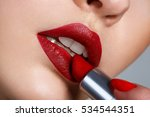 close up portrait model... | Shutterstock . vector #534544351