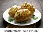 Baked Potato With Bacon  Cheese ...