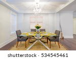 modern dining room in luxury... | Shutterstock . vector #534545461