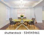 modern dining room in luxury... | Shutterstock . vector #534545461