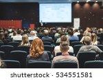 speaker giving a speech at... | Shutterstock . vector #534551581