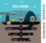 coal mining  land cross section....   Shutterstock .eps vector #534556714