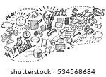 business doodles | Shutterstock .eps vector #534568684
