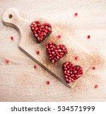 valentines day dessert idea  ... | Shutterstock . vector #534571999