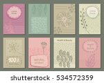 vector set of eco nature labels ... | Shutterstock .eps vector #534572359