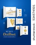 christmas advent calendar doors ... | Shutterstock .eps vector #534574501