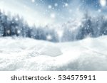 winter background of snow and... | Shutterstock . vector #534575911