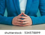 businesswoman body language for ... | Shutterstock . vector #534578899
