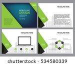 business template design set...   Shutterstock .eps vector #534580339