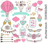set of valentine's day elements ... | Shutterstock .eps vector #534581065