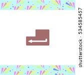 enter vector icon on white... | Shutterstock .eps vector #534585457