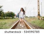 beautiful asia woman traveler... | Shutterstock . vector #534590785