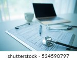 doctor workplace in office | Shutterstock . vector #534590797