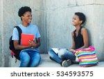 talking african american... | Shutterstock . vector #534593575