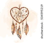 Hand Drawn Ethnic Dreamcatcher...