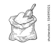 sack with whole flour or sugar... | Shutterstock . vector #534595321
