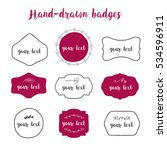 hand drawn labels and badges.... | Shutterstock .eps vector #534596911