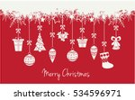 merry christmas greeting card... | Shutterstock .eps vector #534596971