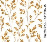 floral pattern with branch and... | Shutterstock .eps vector #534598915
