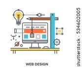 web design concept | Shutterstock .eps vector #534602005