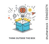 think outside the box | Shutterstock .eps vector #534602074