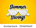 summer savings with white... | Shutterstock . vector #534604669