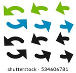 pair of arrows in circle.... | Shutterstock .eps vector #534606781
