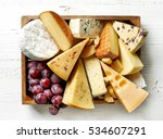 various types of cheese in... | Shutterstock . vector #534607291