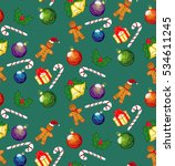 seamless pattern holiday  happy ... | Shutterstock .eps vector #534611245