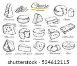Cheese Collection. Vector Hand...