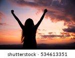 woman gesturing success  ...   Shutterstock . vector #534613351