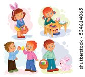 set clip art illustrations with ... | Shutterstock .eps vector #534614065