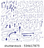 hand drawn vector arrows set. | Shutterstock .eps vector #534617875