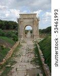 roman arch in leptis magna ... | Shutterstock . vector #53461993