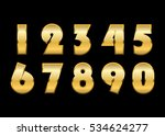 gold numbers set. golden... | Shutterstock .eps vector #534624277