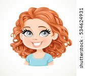 beautiful brunette girl with... | Shutterstock .eps vector #534624931