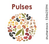 vector illustration of pulses... | Shutterstock .eps vector #534625594