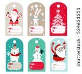 christmas labels | Shutterstock .eps vector #534631351