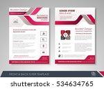 purple annual report brochure... | Shutterstock .eps vector #534634765