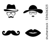 invisible man and woman icons... | Shutterstock .eps vector #534636325