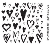 abstract  heart ink set | Shutterstock . vector #534636721