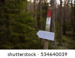 A Trail Marker For Hikers